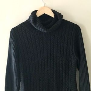 Bylyse Sweaters - Bylyse black cowl-neck sweater - size Med